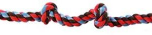 Flossy Chews Colored 4 Knot Tug Rope