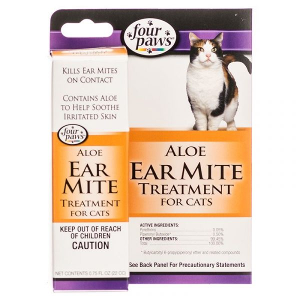 Four Paws Ear Mite Remedy for Cats