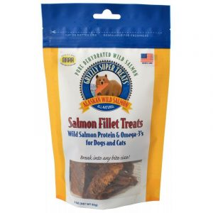 Grizzly Super Treats Salmon Fillet Treats for Dogs & Cats
