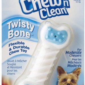 Hartz Chew N Clean Twisty Bone Flexible And Durable Bacon Scented Dog Chew Toy