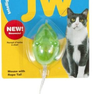 JW Pet Cataction Catnip Infused Mouse With Bell And Tail Cat Toy