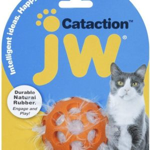 JW Pet Cataction Feather Ball Interactive Cat Toy