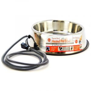 K&H Pet Products Stainless Steel Heated Water Bowl