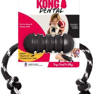 KONG Extreme Dental Dog Chew Toy With Rope Medium