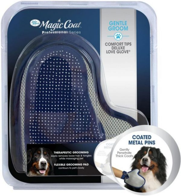 Magic Coat Professional Series Gentle Groom Comfort Tips Deluxe Love Glove