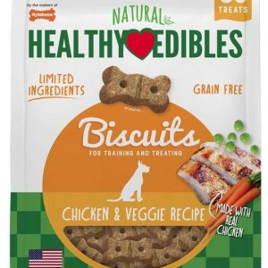 Nylabone Healthy Edibles All Natural Grain Free Limited Ingredient Chicken and Veggie Biscuits