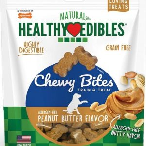 Nylabone Natural Healthy Edibles Peanut Butter Chewy Bites Dog Treats