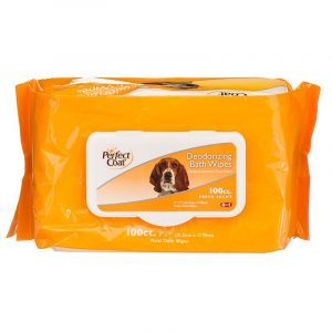 Perfect Coat Deodorizing Bath Wipes for Dogs