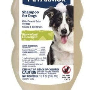 PetArmor Flea and Tick Shampoo for Dogs Sunwashed Linen Scent