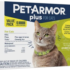 PetArmor Plus Flea and Tick Treatment for Cats (Over 1.5 Pounds)