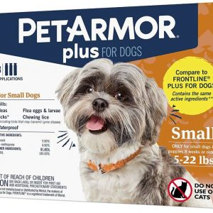 PetArmor Plus Flea and Tick Treatment for Small Dogs (5-22 Pounds)