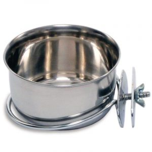 Prevue Stainless Steel Coop Cup with Bolt