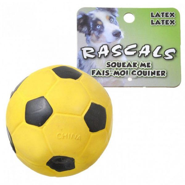 Rascals Latex Soccer Ball for Dogs - Yellow