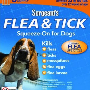 Sergeants Flea and Tick Squeeze-On Dog 33-66lb