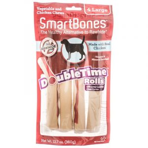 SmartBones DoubleTime Roll Chews for Dogs - Chicken
