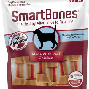 SmartBones Small Vegetable and ChickenBones Rawhide Free Dog Chew