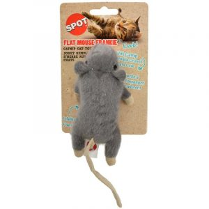 Spot Flat Mouse Frankie Catnip Toy - Assorted Colors