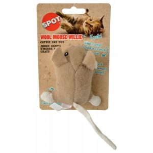 Spot Wool Mouse Willie Catnip Toy - Assorted Colors