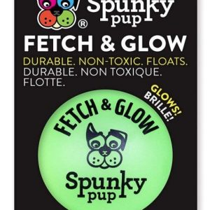 Spunky Pup Fetch and Glow Ball Dog Toy Assorted Colors