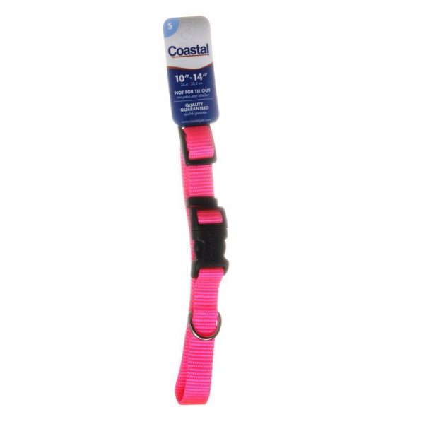 Tuff Collar Nylon Adjustable Collar - Neon Pink