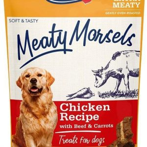 Vitakraft Meaty Morsels Mini Chicken Recipe with Beef and Carrots Dog Treat