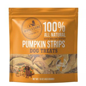 Wholesome Pride All Natural Pumpkin Strips Dog Treats