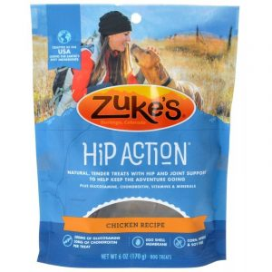 Zukes Hip Action Hip & Joint Supplement Dog Treat - Roasted Chicken Recipe