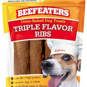 Beefeaters Oven Baked Triple Flavor Ribs Dog Treat