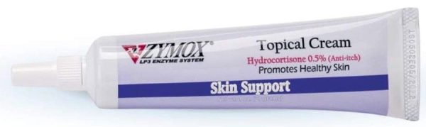 Zymox Skin Support Topical Cream with Hydrocortisone for Dogs and Cats