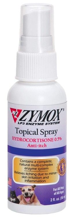 Zymox Topical Spray with Hydrocortisone for Dogs and Cats